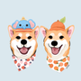 柴犬豆芽菜有橘子